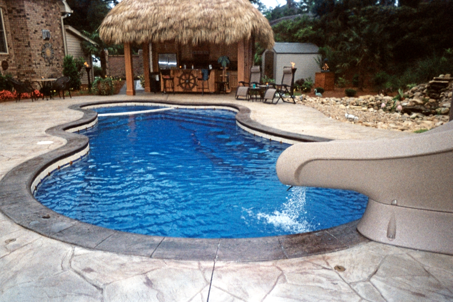 Fiberglass pool installation gold coast pools llc Fiberglass swimming pool installation